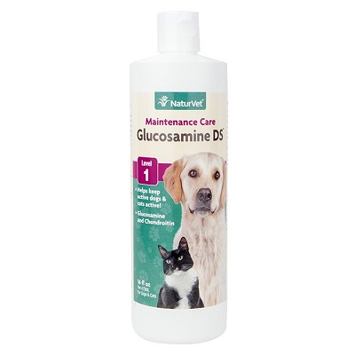 NaturVet Glucosamine DS Level 1 Maintenance Formula Joint Care Dog & Cat Liquid Supplement, 16 oz