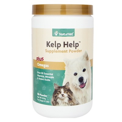 NaturVet Kelp Help Mineral & Vitamin Dog & Cat Powder Supplement