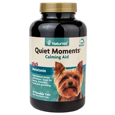 NaturVet Quiet Moments Calming Aid Dog Tablets, 60 Count