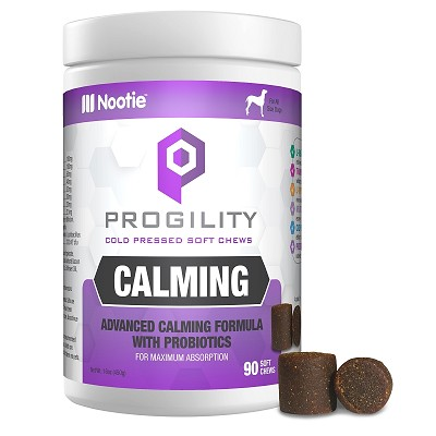 Nootie Progility Calming With Probiotics Supplement for Dogs, Large, 90 Soft Chews