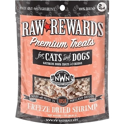 Northwest Naturals Raw Rewards Freeze-Dried Shrimp Dog & Cat Treats