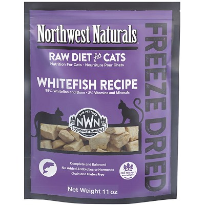 Northwest Naturals Whitefish Recipe Freeze-Dried Cat Food, 11-oz Bag