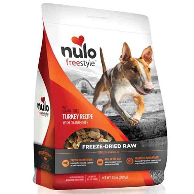 Nulo Freestyle Freeze Dried Turkey with Cranberries Dog Food, 13-oz Bag