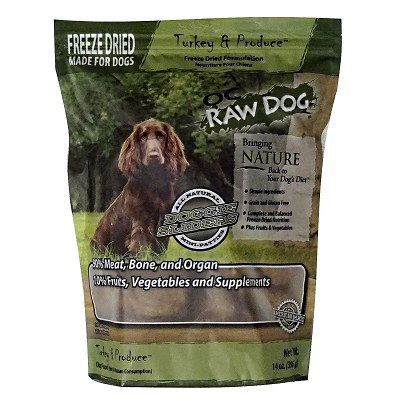 OC Raw Freeze-Dried Turkey & Produce Sliders Dog Food, 14-oz Bag
