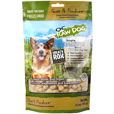 OC Raw Meaty Rox Goat & Produce Freeze Dried Dog Food, 5.5-oz Bag