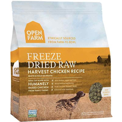 Open Farm Harvest Chicken Recipe Freeze Dried Raw Dog Food, 13.5-oz Bag