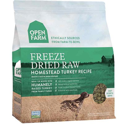 Open Farm Homestead Turkey Recipe Freeze Dried Raw Dog Food, 13.5-oz Bag