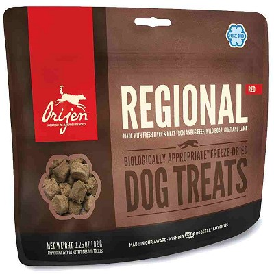 ORIJEN Regional Red Freeze-Dried Dog Treats, 3.25-oz Bag