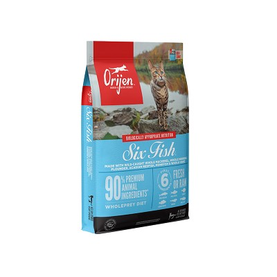 ORIJEN Six Fish Grain-Free Dry Cat Food, 4-lb bag
