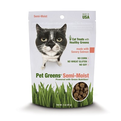 Pet Greens Savory Salmon Semi-Moist Cat Treats
