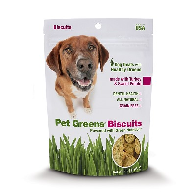 Discontinued, Pet Greens Turkey & Sweet Potato Biscuits Grain-Free Dog Treats