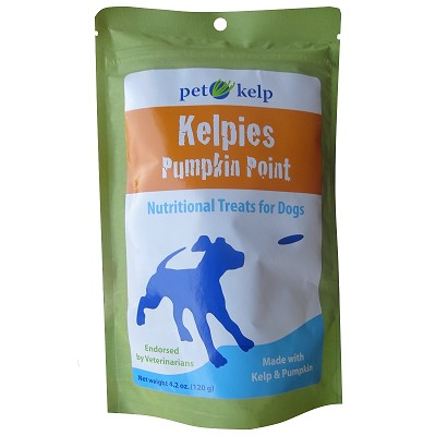 Discontinued, Pet Kelp Kelpies Pumpkin Point Dog Treats