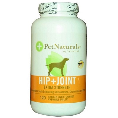 Pet Naturals Of Vermont Hip and Joint Extra Strength Dog Vitamin 120 Count