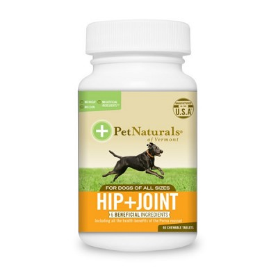 Pet Naturals of Vermont Hip + Joint Dog Supplement, 60 Chewable Tablets