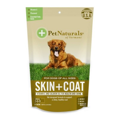 Pet Naturals of Vermont Skin & Coat Chews Dog Supplement, 30 Count