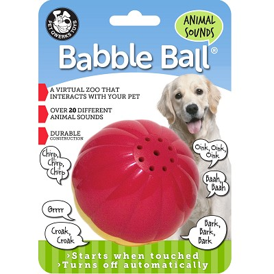 Pet Qwerks Animal Sounds Babble Ball Interactive Dog Toy, Large