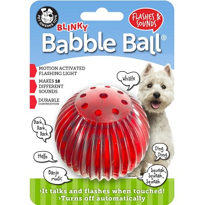Pet Qwerks Blinky Babble Ball Interactive Dog Toy, Medium