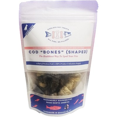 Pierless Pet Dehydrated Cod Skin Bones Dog Treats, 6-oz Bag