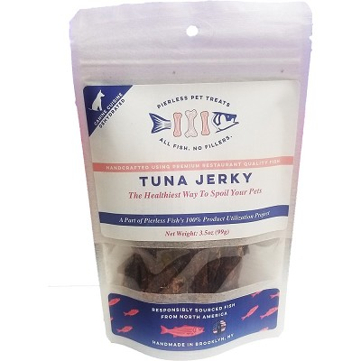 Pierless Pet Dehydrated Tuna Jerky Dog Treats, 3.5-oz Bag