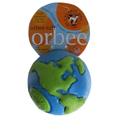 Planet Dog Orbee-Tuff Orbee Ball, Large - Blue/Green