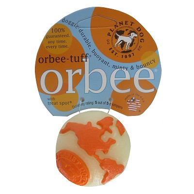 Planet Dog Orbee-Tuff Orbee Ball, Small - Glow/Orange