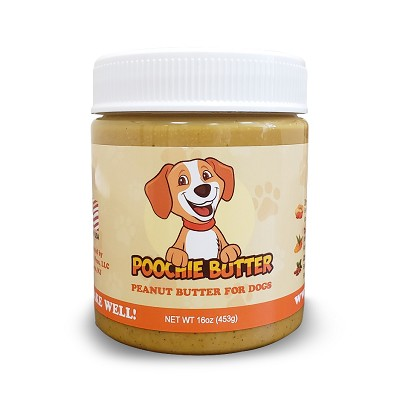 Poochie Butter Peanut Butter for Dogs, 12-oz jar