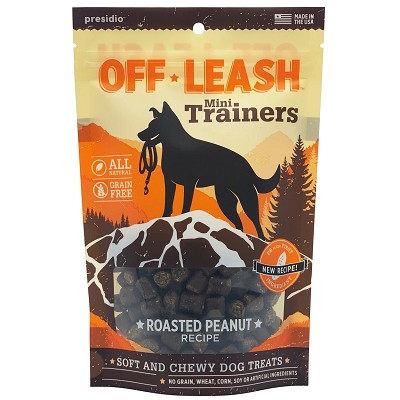 Presidio Off-Leash Mini Trainers Roasted Peanut Recipe Dog Treats, 14-oz Bag