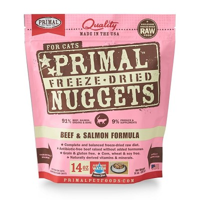 Primal Beef and Salmon Nuggets Freeze-Dried Cat Food