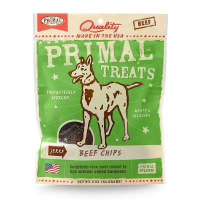 Primal Jerky Beef Chips Dog Treats