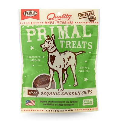 Primal Jerky Organic Chicken Chips Dog Treats