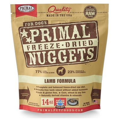Primal Lamb Formula Nuggets Freeze Dried Dog Food
