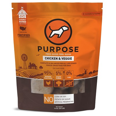 PURPOSE Chicken & Veggie Freeze Dried Dog Food, 14-oz Bag