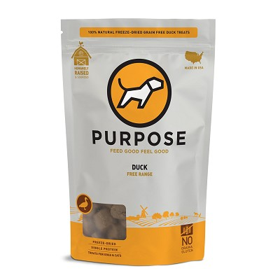 PURPOSE Freeze Dried Free Range Duck Bites Dog Treats, 2.5-oz Bag