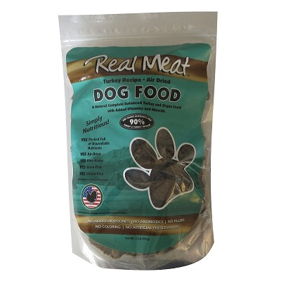 Real Meat Turkey Recipe Air-Dried Dog Food, 2-lb Bag