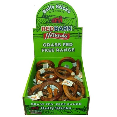 Red Barn Small Bully Rings Dog Treats, Pack of 35