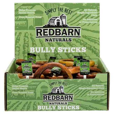 Redbarn Small Bully Rings Dog Treats, Pack of 35