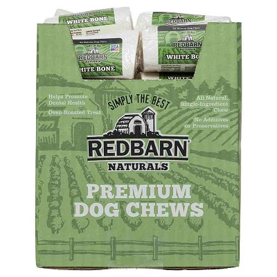 Redbarn Small White Bones Dog Treats, Case of 30