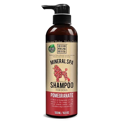 Reliq Pomegranate Mineral Spa Shampoo for Dogs, 16.9-oz