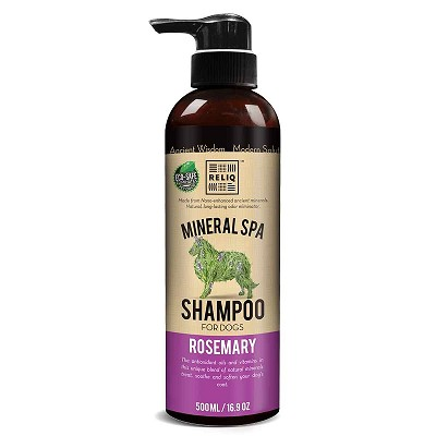 Reliq Rosemary Mineral Spa Shampoo for Dogs, 16.9-oz
