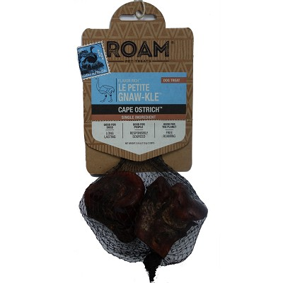 ROAM Pet Treats Le Petite Gnaw-Kle Ostrich Bones Dog Treats