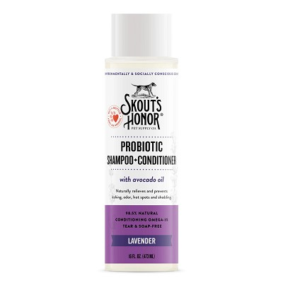 Skout's Honor Probiotic Lavender Shampoo with Conditioner for Dogs & Cats, 16-oz Bottle