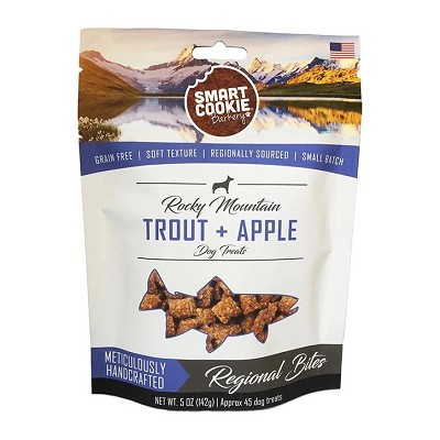 Smart Cookie Barkery Rocky Mountain Trout + Apple Regional Bites Dog Treats