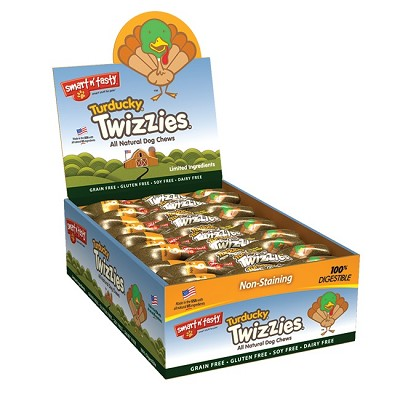 Smart n Tasty Turducky Twizzies Dog Chew Treats, 6