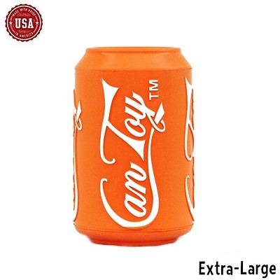 SodaPup Orange Soda Can Made in USA Dog Toy, Extra-Large