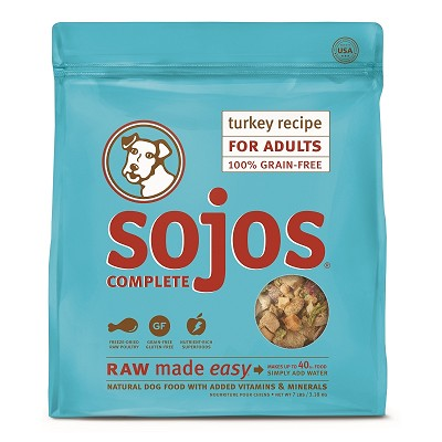 Sojos Complete Turkey Recipe Adult Grain-Free Freeze-Dried Raw Dog Food, 7-lb Bag