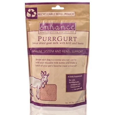 Steve's Enhance PurrGurt Immune & Renel Support Freeze-Dried Goat Milk Dog & Cat Supplement, 8-oz