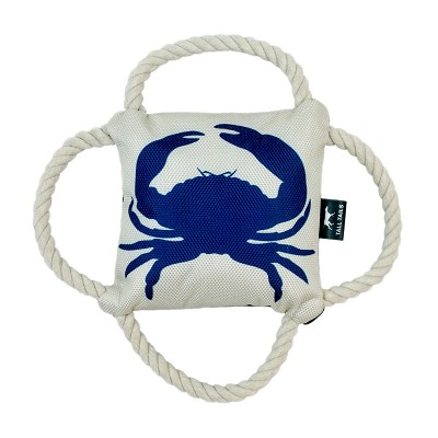 Tall Tails 4 Way Blue Crab Dog Tug Toy