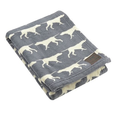 Tall Tails Grey Dog Icon Premium Dog Blanket, 20