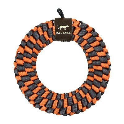 Tall Tails Orange Braided Ring Dog Toy, 5