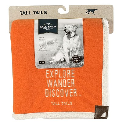 Tall Tails Orange Explore Dog Blanket, 40